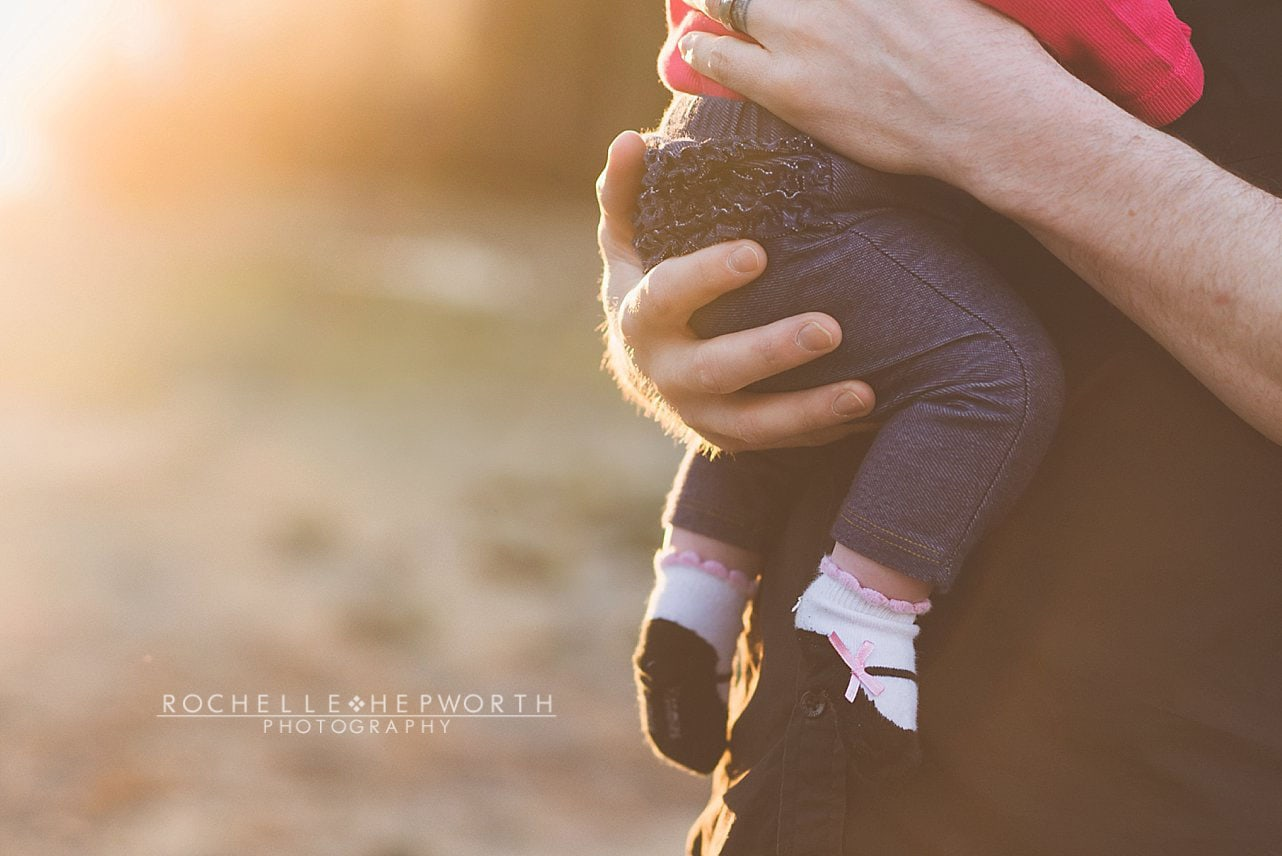 First Outdoor Family Photo Shoot at Rocky Point for baby Brooklyn