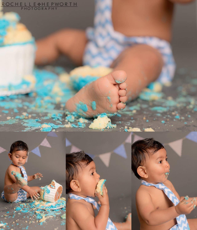 cake smash close up