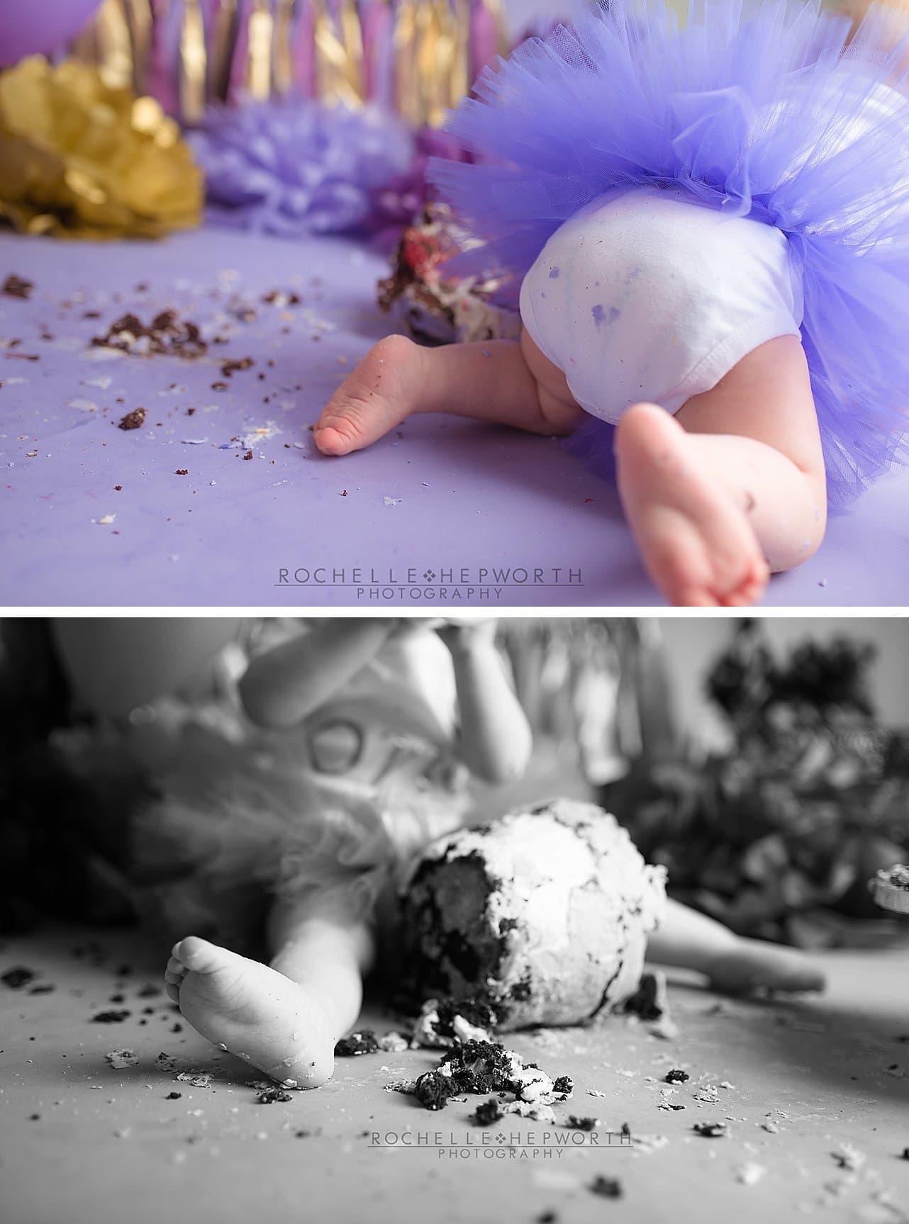 mess after cake smash