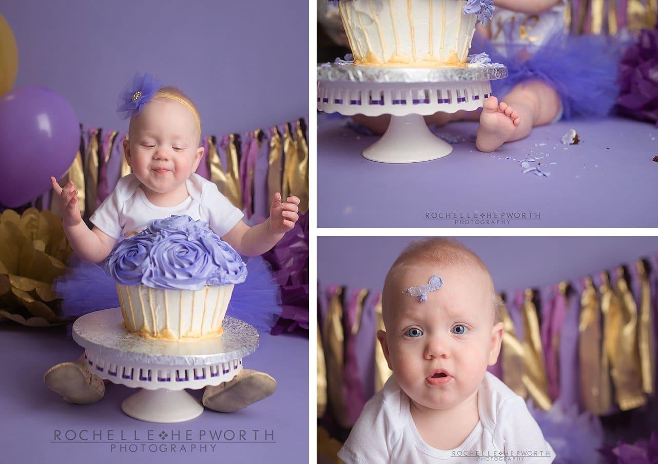 cake smash collage