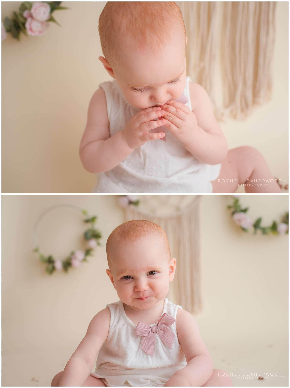 toddler girl smiling sweetly