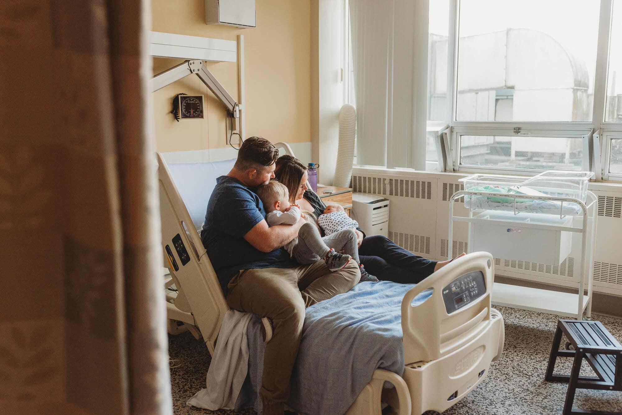 fresh 48 family in hospital room