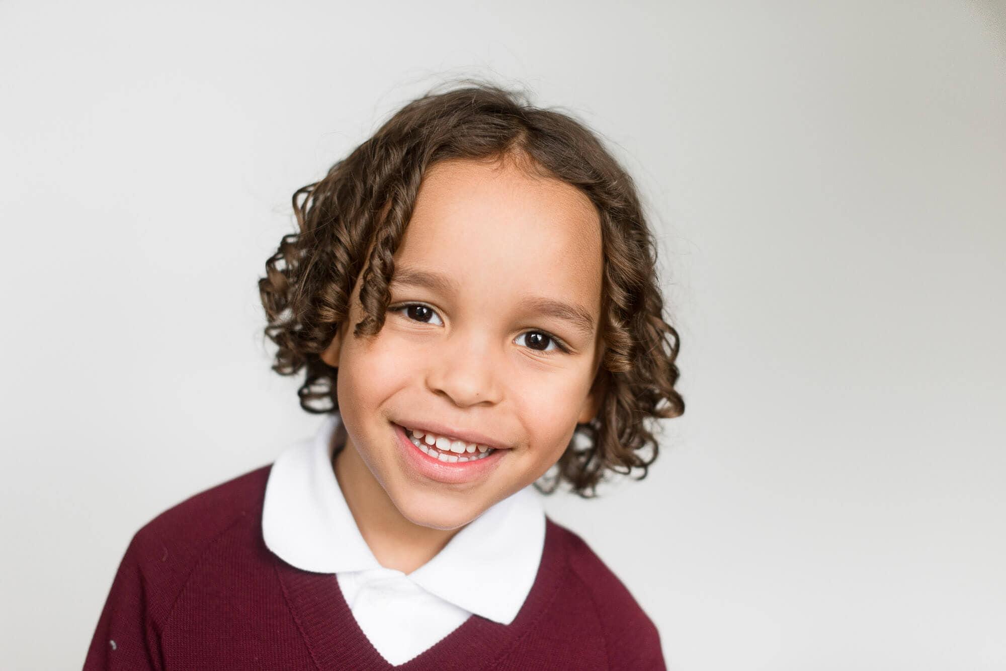 fine art school photography boy with curly hair
