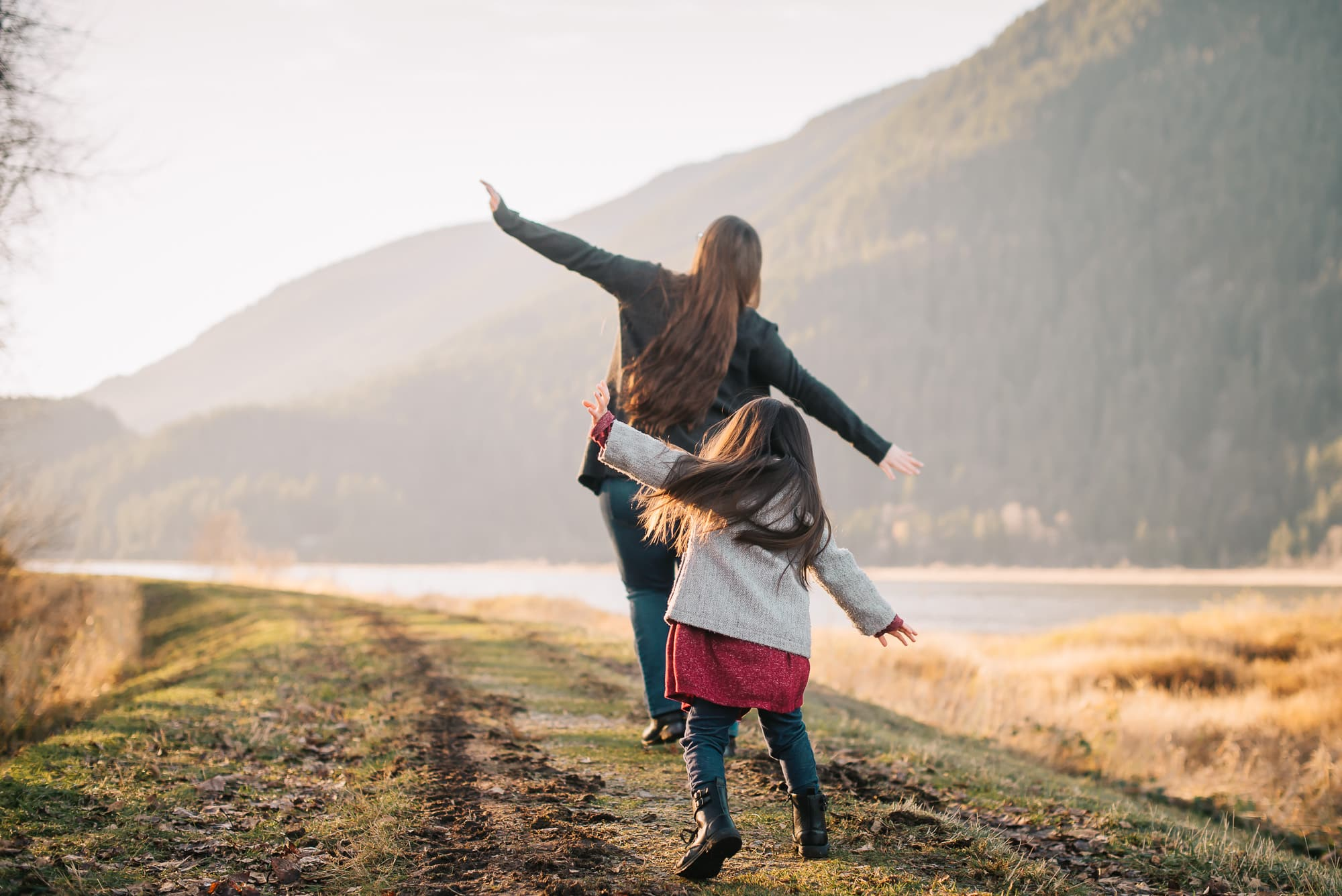 Vancouver Family Photographer captured playful moment with mother and daughter