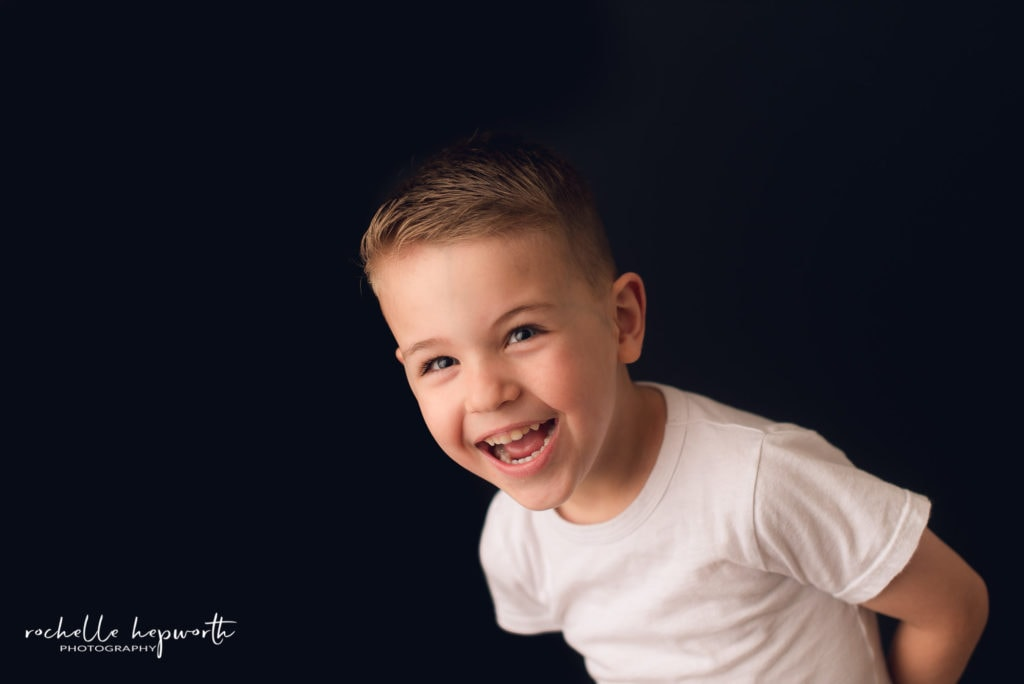 lauschool portrait of laughing boy
