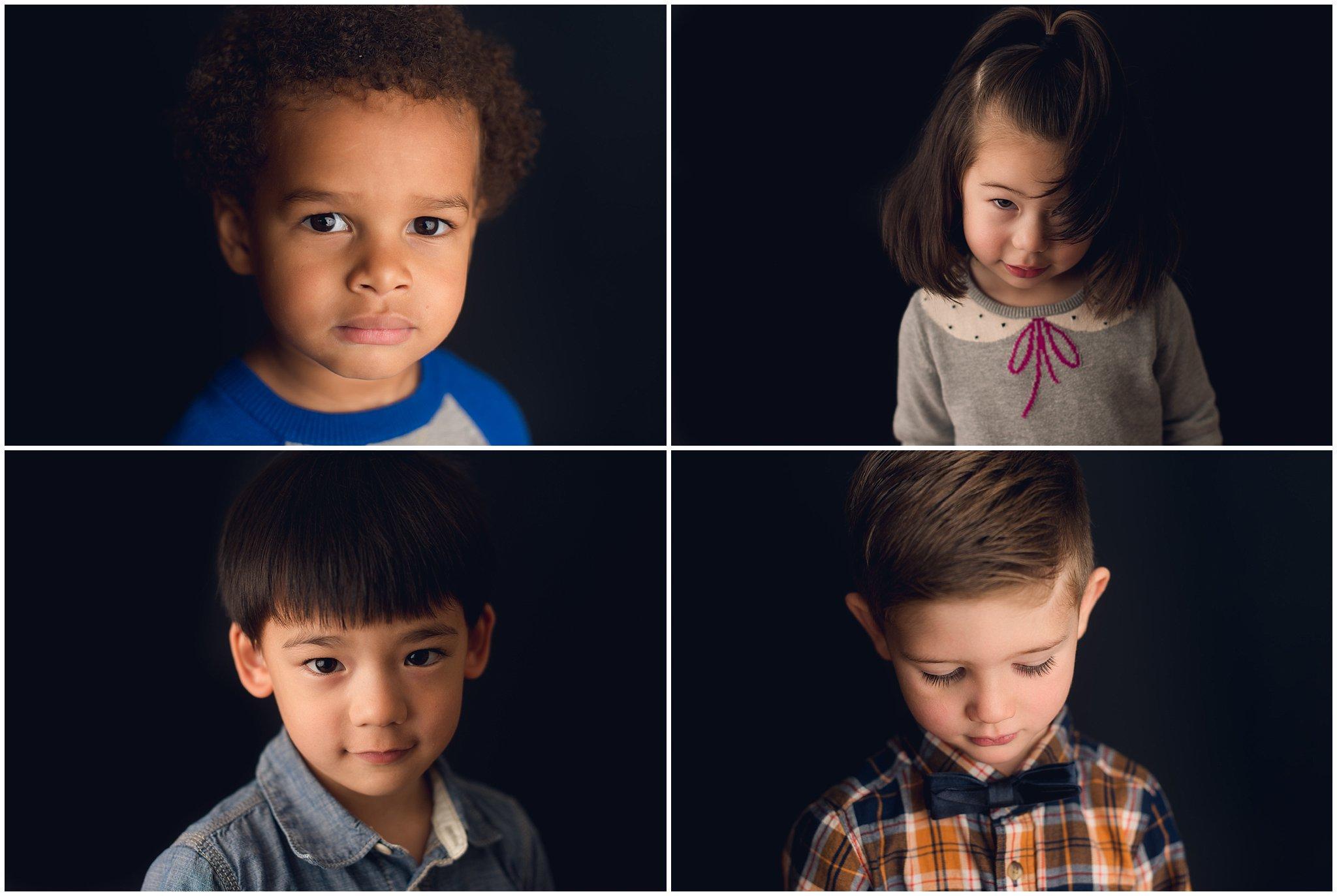 serious kids school portraits