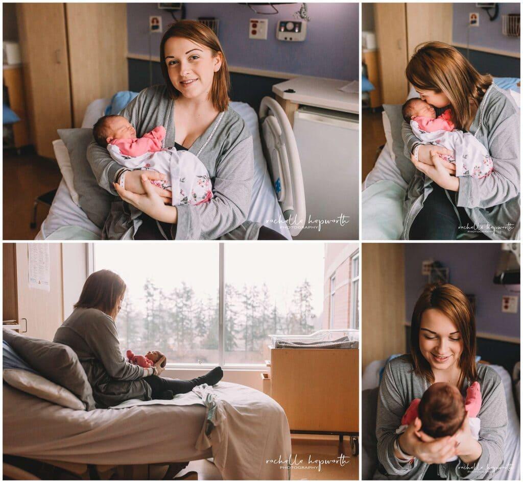 mom and newborn baby photos