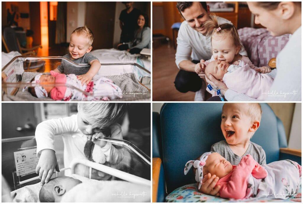 siblings meeting newborn