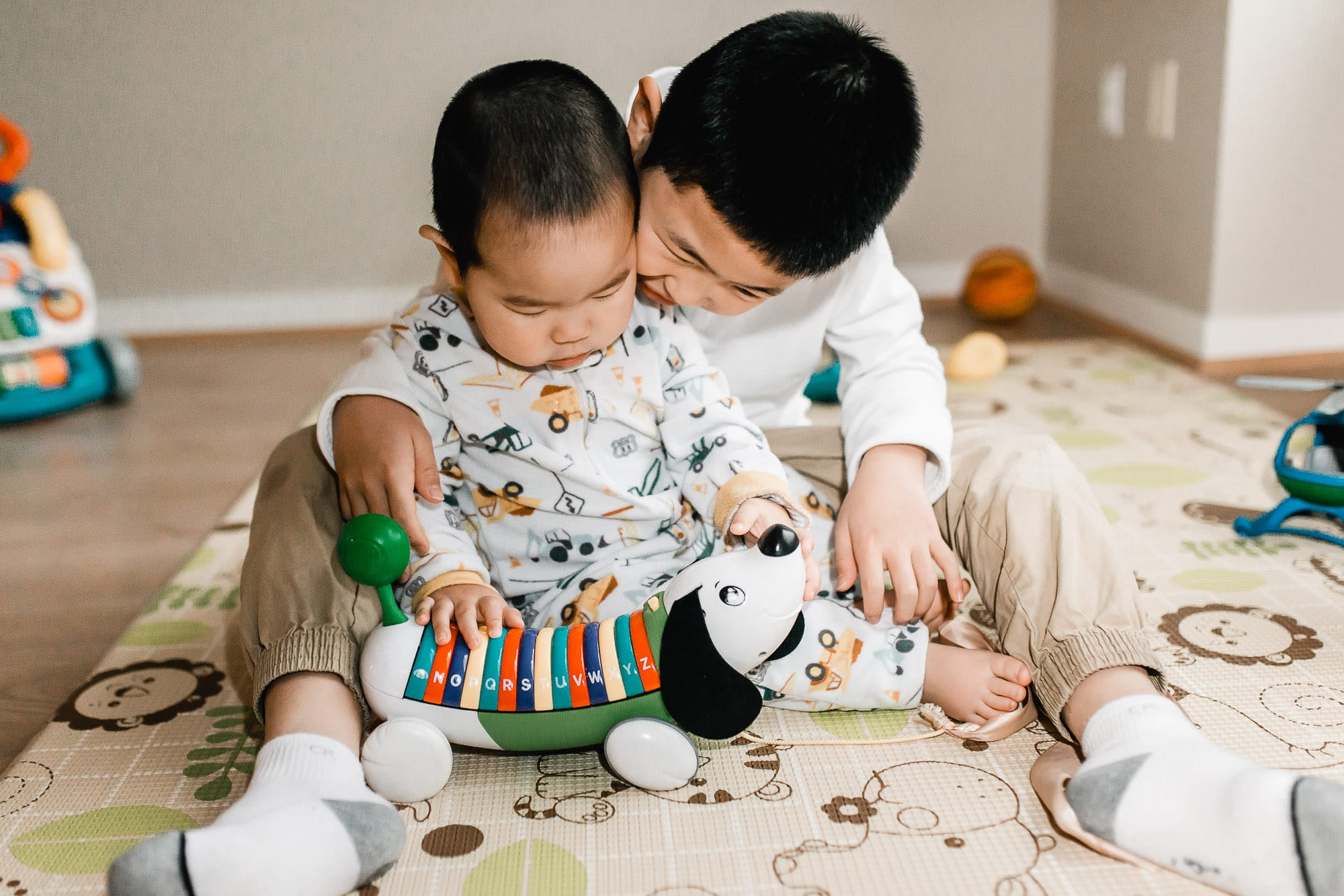 Vancouver Family Photographer captures brother playing