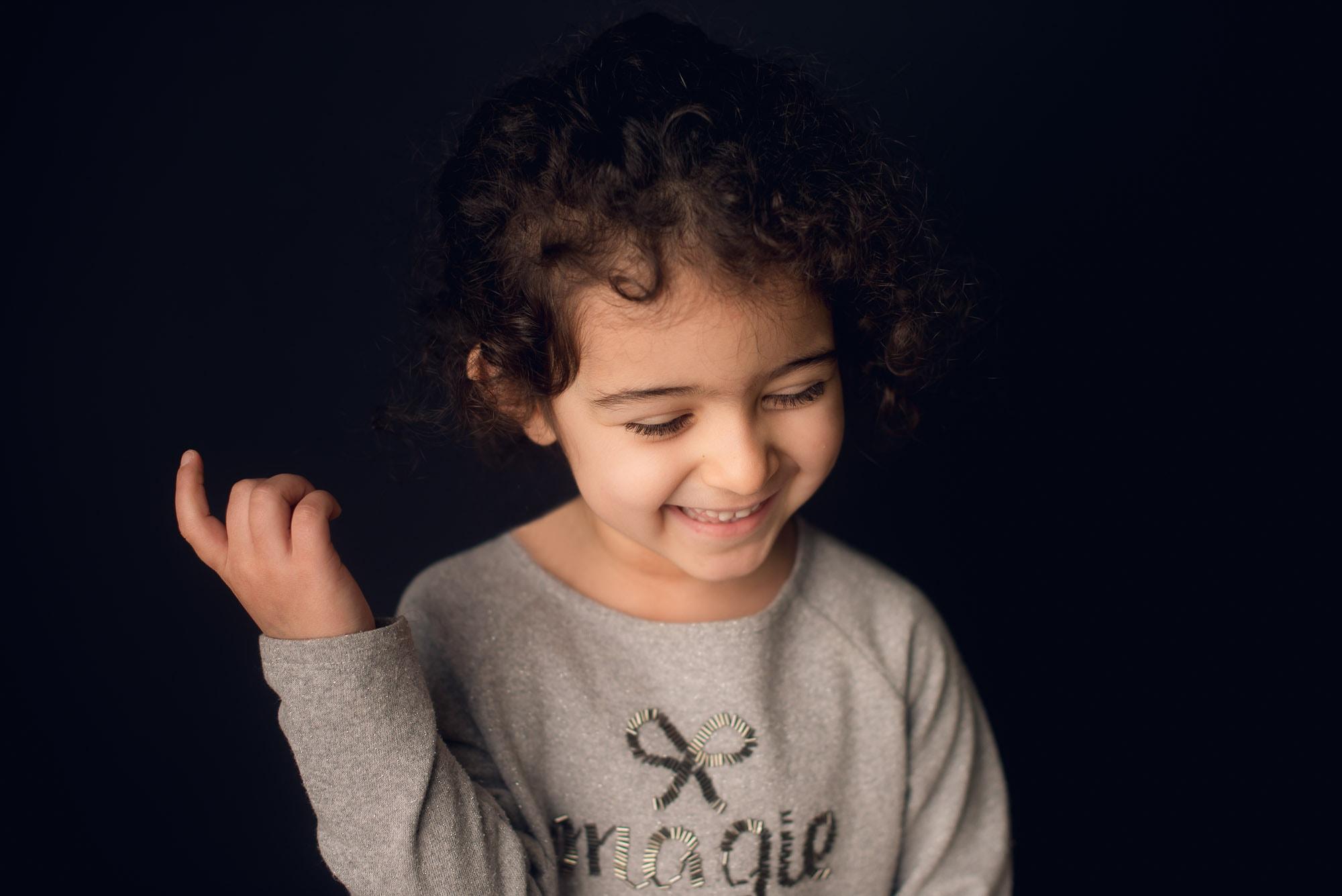 school photography on black background
