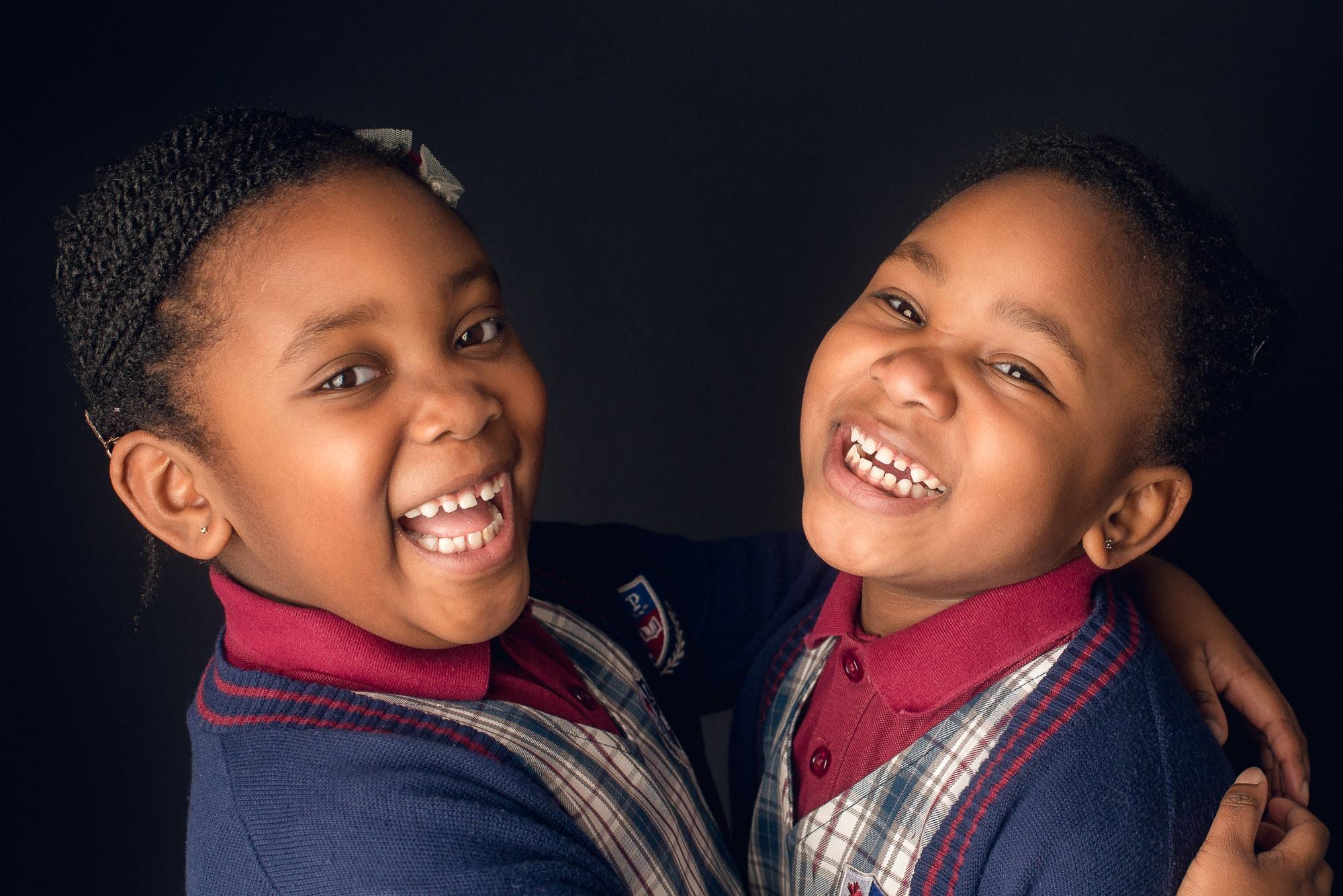 twin girls school photo in Burnaby